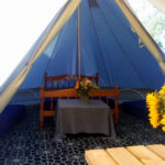 Open Bell Tent with view inside