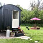 Outside Bluebell Shepherd's Hut