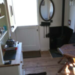 Inside Bluebell Shepherd's Hut Kitchen