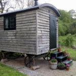 Outside Oak Shepherd's Hut