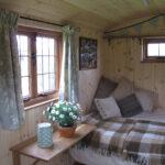 Inside Oak Shepherd's Hut
